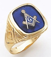 3rd Degree Masonic Blue Lodge Ring 10KT OR 14KT, Solid Back, White or Yellow Gold, #139b