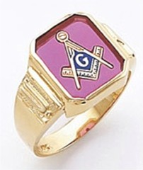3rd Degree Masonic Blue Lodge Ring 10KT OR 14KT, Open or Solid Back, White or Yellow Gold, #135b