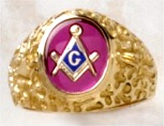 3rd Degree Blue Lodge Masonic Ring 10KT OR 14KT Yellow or White Gold, Open or Solid Back #511