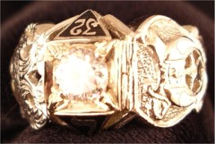 32ND DEGREE SCOTTISH RITE-SHRINE RINGS, Hollow Back  #1304