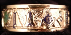3rd Degree Masonic Blue Lodge Ring 10KT OR 14KT #35