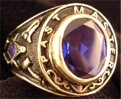 Masonic Past Master Rings, 10KT or 14KT YELLOW OR WHITE GOLD, Open or  Solid Back #1010