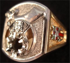 Shrine Ring 10KT or 14KT Gold, Open or Solid Back  #18