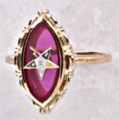 Eastern Star Ring 10KT or 14KT Yellow or White Gold #61