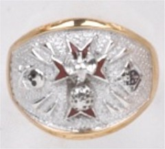 Knights of Columbus Rings,4th Degree,10KT or 14KT Gold Open or Closed  Back #1906
