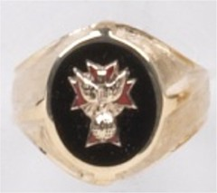 Knights of Columbus Ring, 4th Degree or 3rd Degree, 10KT or 14KT Gold Open or Solid Back #1924