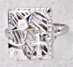 Eastern Star White Shrine 10Kt or 14KT Yellow or White Gold #31