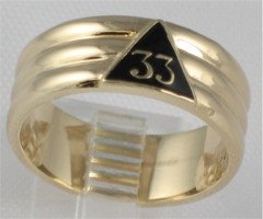 33RD DEGREE MASONIC RING  Yellow or White Gold #1601A