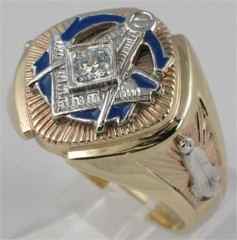 3rd Degree Blue Lodge Masonic Ring 10KT OR 14KT, Open or Solid Back #705A