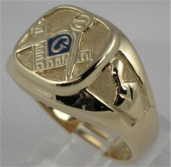 3rd Degree Blue Lodge Masonic Ring 10KT or 14KT Yellow or White Gold, Open or Solid Back   #701A