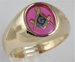 3rd Degree Blue Lodge Masonic Ring 10KT OR 14KT, Yellow or White Gold, Open Back #706A