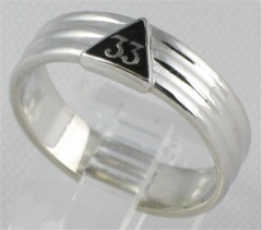 33RD DEGREE MASONIC MINI RING  10KT or 14KT Yellow or White Gold #1609A
