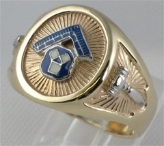 Masonic Pennsylvania Past Master Rings, 10KT or 14KT  GOLD, Solid Back #1049