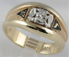 Scottish Rite Rings, 14 & 32ND DEGREE,10KT or 14KT Gold, Solid Back  #1107