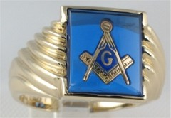 3rd Degree Masonic Blue Lodge Ring 10KT OR 14KT Gold, Open Back , Yellow or White Gold #227