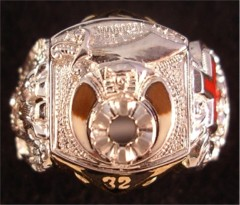 Scottish Rite & Shrine Ring 14KT Gold, Open or Solid Back   #1403