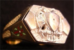 Scottish Rite & York Rite Ring 14KT Gold Open or Solid Back #1136