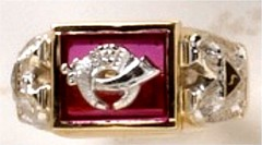 Scottish Rite & Shrine Rings 14 KT Gold, Open or Solid Back #1404