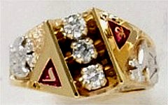 Scottish Rite & Shrine Ring 10KT or 14KT Gold, Open or Solid Back  # 1402