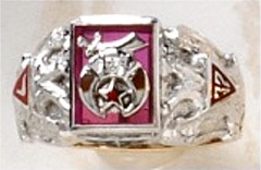 Scottish Rite & Shrine Ring 10KT or 14KT Gold, Open or Solid Back  #1405