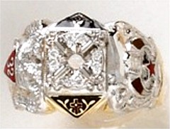 Scottish Rite & Shrine Rings 10KT or 14KT  Solid Back #1409
