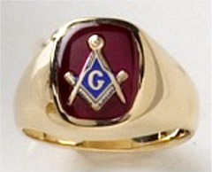 3rd Degree Masonic Ring 10KT OR 14KT  Open or Solid Back, White or Yellow Gold, #720