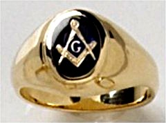 3rd Degree Masonic Ring 10KT OR 14KT Open or Solid Back, White or Yellow Gold, #721