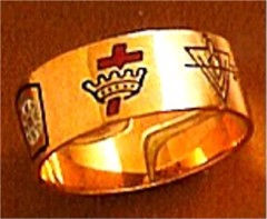 Wefferling Berry Knights Templar Ring 10K or 14K Gold #1521