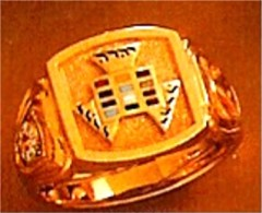 Wefferling Berry Knights Templar Ring, Past High Grand Priest 10K or 14K Gold Solid Back #1523