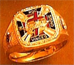 Wefferling Berry Knights Templar Ring 10K or 14K Gold, Open Back #1526