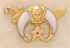 Shrine Lapel Pin 10KT Gold,  1