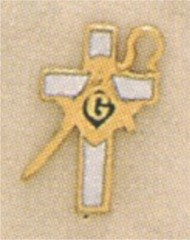 Shrine Lapel Pin 10KT Gold, Past Watchman of the Shepherd 13