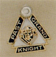 PAST GRAND KNIGHT LAPEL PIN 14KT GOLD
