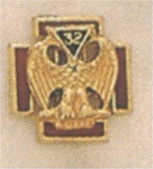 SCOTTISH RITE 32ND DEGREE LAPEL PIN 14KT YELLOW GOLD #7