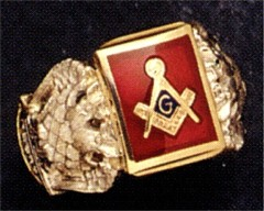 Scottish Rite, Blue Lodge, Open or Solid Back, 10KT or 14 KT  #1411