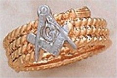 3rd Degree Blue Lodge Masonic Ring 10KT OR 14KT #1