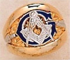 3rd Degree Blue Lodge Masonic Ring 10KT OR 14KT, Solid Back  #4