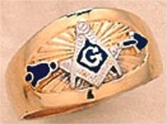 3rd Degree Blue Lodge Masonic Ring 10KT OR 14KT, Solid Back #6