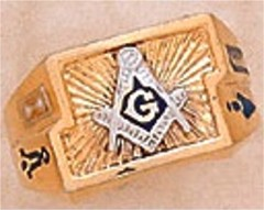 3rd Degree Blue Lodge Masonic Ring 10KT or 14KT, Solid Back #12