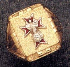 Knights of Columbus Ring,4th Degree or 3rd Degree, 10KT or 14KT Gold Open or Solid  Back #1923