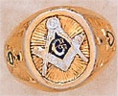 3rd Degree Blue Lodge Masonic Ring 10KT OR 14KT, Solid Back  #15
