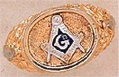 3rd Degree Blue Lodge Masonic Ring 10KT OR 14KT, Hollow Back #19