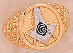 3rd Degree Blue Lodge Masonic Ring 10KT OR 14KT, Hollow Back #22