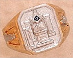 3rd Degree Blue Lodge Masonic Ring 10KT OR 14KT, Solid Back  #23