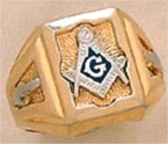3rd Degree Blue Lodge Masonic Ring 10KT OR 14KT, Hollow Back  #27