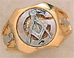 3rd Degree Blue Lodge Masonic Ring 10KT OR 14KT, Solid Back  #31
