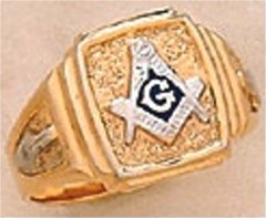 3rd Degree Blue Lodge Masonic Ring 10KT OR 14KT, Hollow Back #28