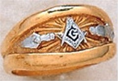 3rd Degree Blue Lodge Masonic Ring 10KT OR 14KT, Solid Back  #29