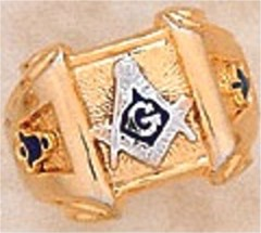3rd Degree Blue Lodge Masonic Ring 10KT OR 14KT, Solid Back  #41