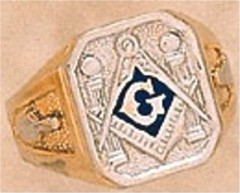 3rd Degree Blue Lodge Masonic Ring 10KT OR 14KT, Solid Back  #43